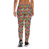Women's Colorful Leaves Pattern Gym Jogger Pants with Pockets, (XS-3XL) Cozy Fit