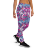 Women's Cute Bright Vintage Flower Pattern Gym Workout Jogger Pants with Pockets