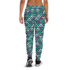 Women's Sacred Geometry Waves Running Joggers with Pockets, (XS-3XL) Relaxed Fit