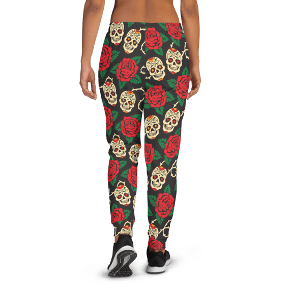 Women's The Best Amazing Sugar Skulls Gym Workout Jogger Pants with Pockets