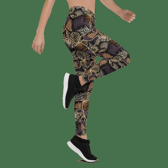 Best Black Fashion Leggings - Top Rated Black Patterned Yoga Leggings
