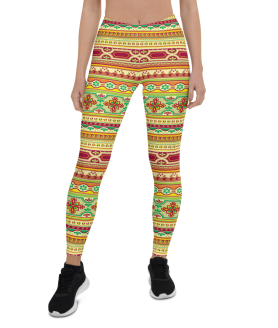 Best Classic European Pattern Print Leggings - Best Custom Printed Yoga Pants