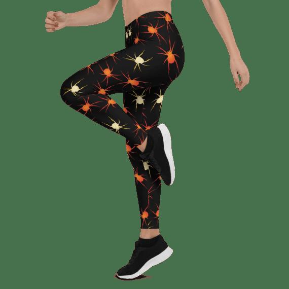 Orange and White Spiders Leggings - The Best Halloween Leggings
