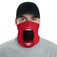 Protective Funny Screaming Mouth Face Mask, Neck Gaiter, Headwear -Scarf-Bandana