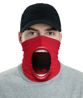 Scream Face Mask - Funny Screaming Face Mask
