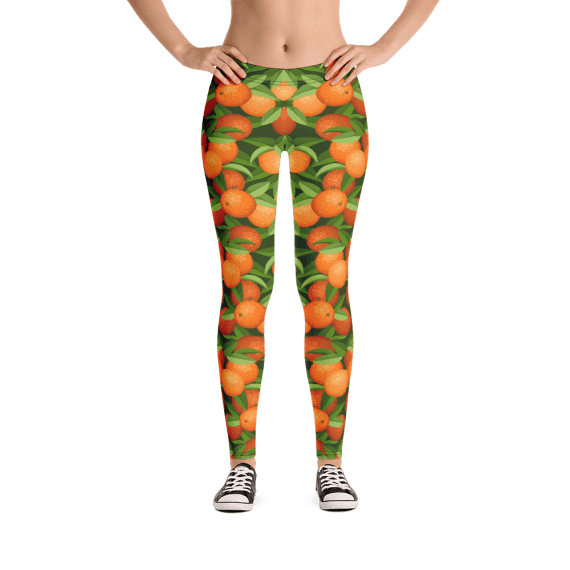 Sweet, Juicy Oranges Leggings - Orange Fruit Leggings - Best Creative leggings