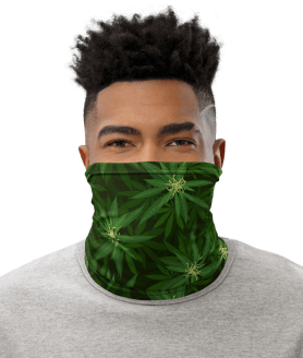 New Marijuana Leaves, Cannabis Weed Protective Face Cover Facemask / Face Mask