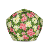 Decorative Floral Home Office Furniture, Stylized Flowers Bean Bag Chair, Sofa