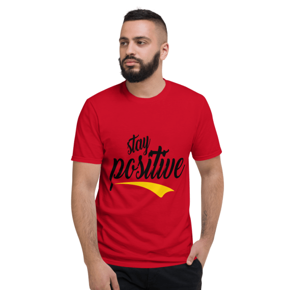 Best Saying Tshirt, Lettering Typography Quotes T-Shirt, New Stay Positive Tee