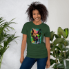 Colorful Trippy Art Gift Dog Lover Short-Sleeve Unisex T-Shirt, Cool Dog Lover Tee