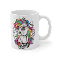 Hipster Animal Mug, Hipster Unicorn Coffee Cup, Colorful Mug Gift, Funny Unicorn Mug