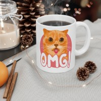 Cat Lover Mug - OMG Cat Coffee Cup