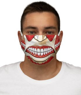 Scary Monster Skull Face Mask Halloween Fashion Cloth Washable Fabric Mouth Mask – Reusable Mask