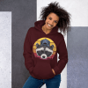 Animal Pet Lover Casual Graphic Pullover Hoodie. Cute Unisex Raccoon Hoodie