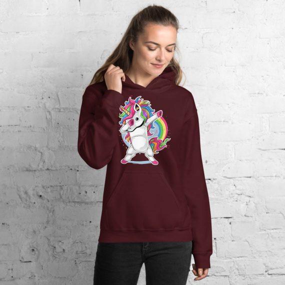 Unicorn Dabbing Hoodie, Funny Dab Hooded Pullover Sweatshirt