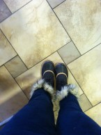 For the first time in my life I own snow boots. They had to have some fur on them; don't judge.