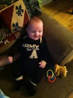 """""""Go Army, beat Navy"""" The indoctrination begins. (We didn't beat Navy. . . again.)"""