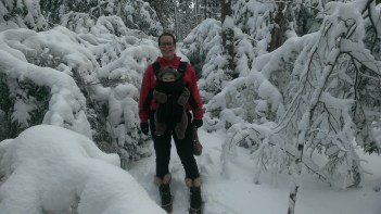 Seriously, it was a way snowier hike than we anticipated.