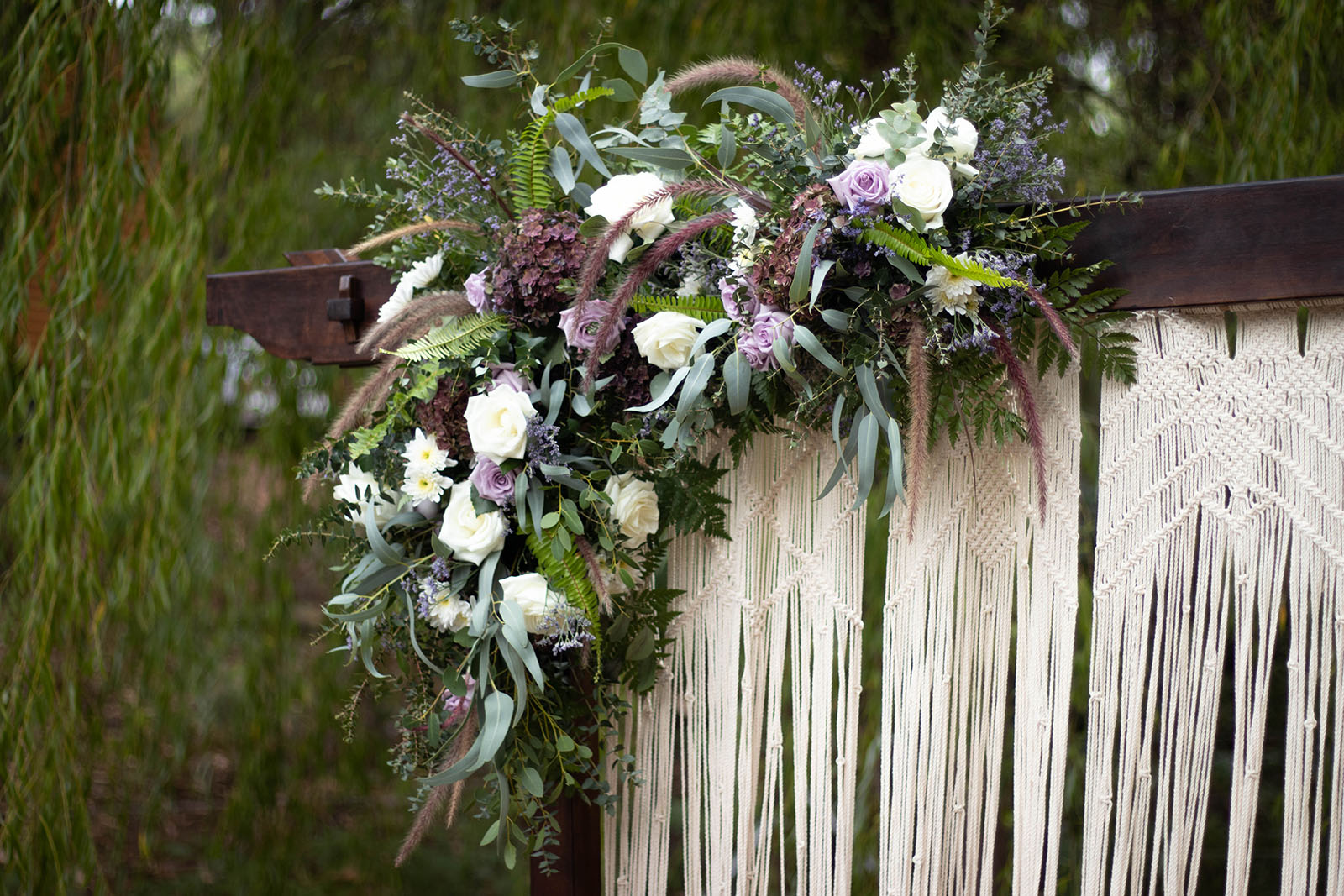 Arbour and florals at Noble River Estate Dwellingup wedding venue