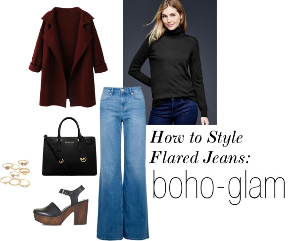 How to Style Flared Jeans: Boho-Glam
