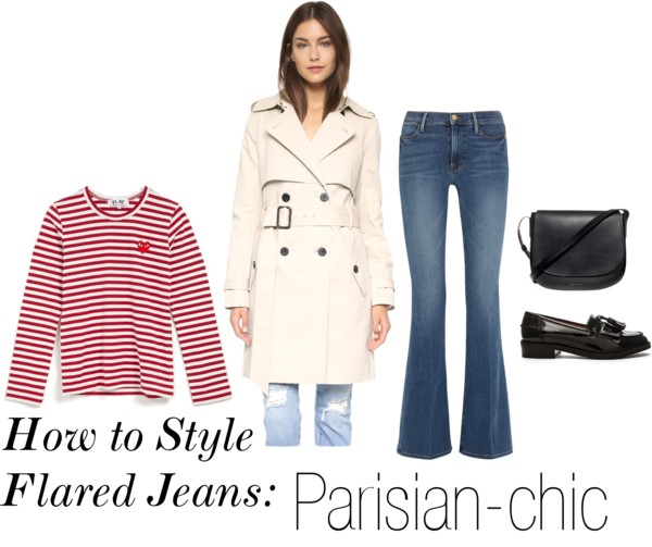 How to Style Flared Jeans: Parisian - Chic