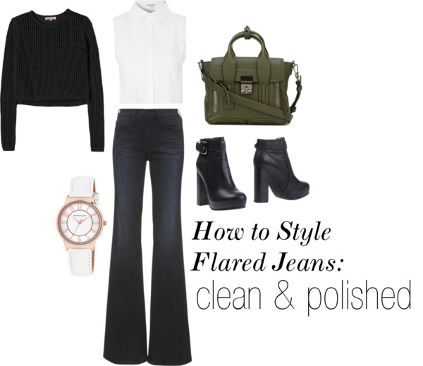 How to Style Flared Jeans: Clean & Polished