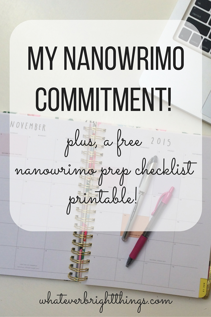I'm doing NaNoWriMo! Are you? I've even shared a free prep checklist printable to guide your planning!