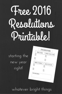 What are your New Year's Resolutions? I have a free printable to help you stay on track!