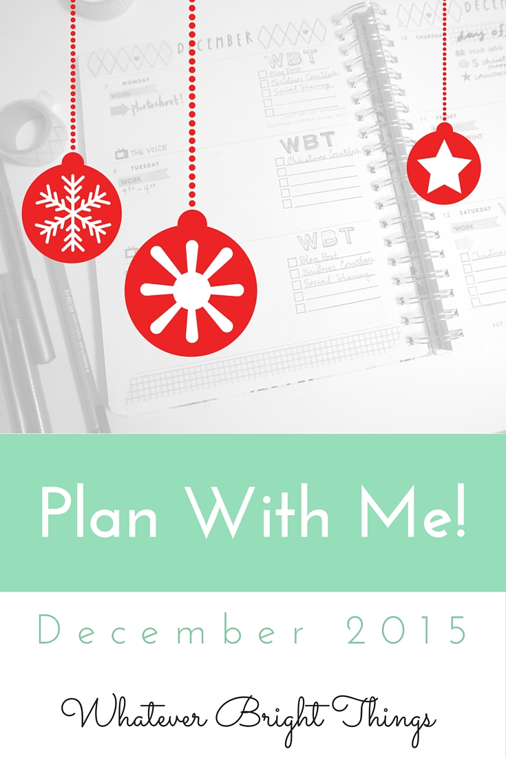 If you want to see how I decorate my Bando Planner for December, check out my first Plan With Me Video!