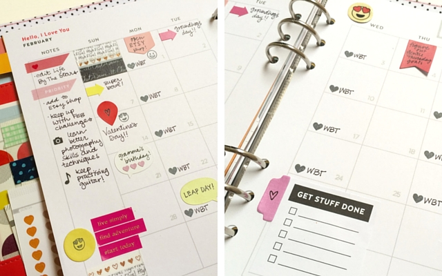 February Planner Close-up
