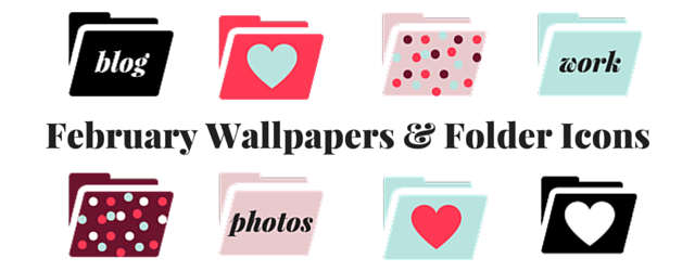February Wallpapers and Folder Icons