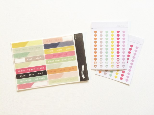 I couldn't wait to use these Washi Strips and Tiny Heart Stickers - that's why some of them are already missing!