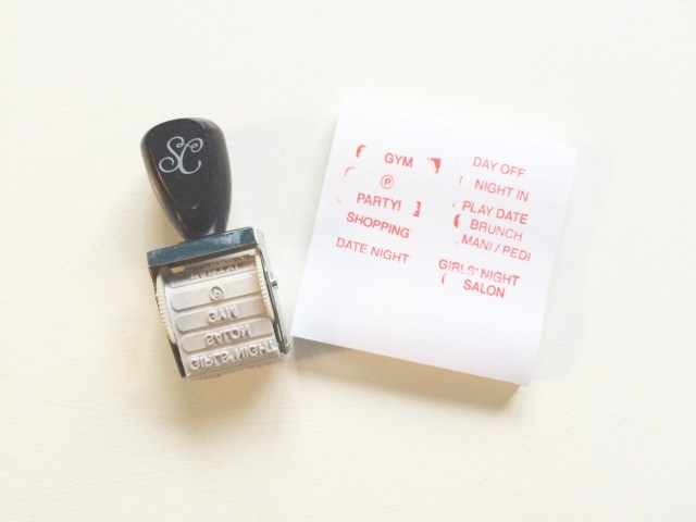 This Roller Stamp came in this month's kit - a fun assortment of girly activities and phrases.