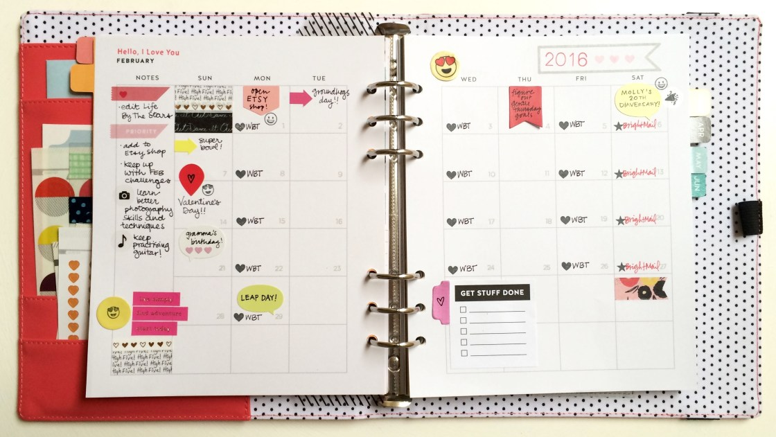 February Planner Pages