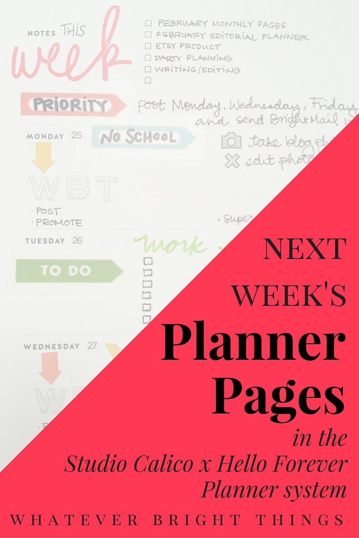 This week's Planner Pages feature a primary color scheme and fun geometric shapes. Click through to see how I decorated my Studio Calico x Hello Forever Planner using stamps, stickers, sticky notes, and handwriting!