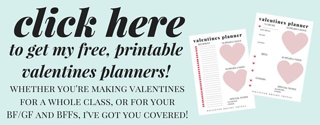 Free Printable Valentines Planner