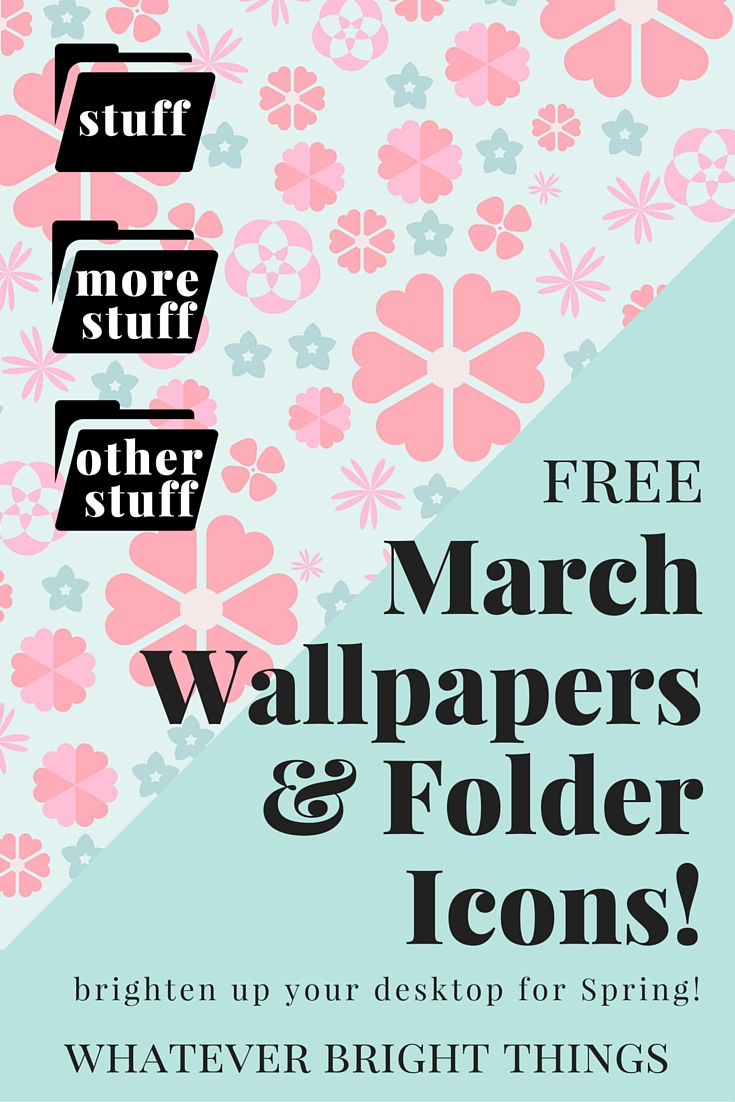 Brighten up your desktop for Spring! Mix and Match these free March Wallpapers and Folder Icons to create a cute and organized desktop. Click through to see all 3 Wallpapers & 12 Folder Icons!