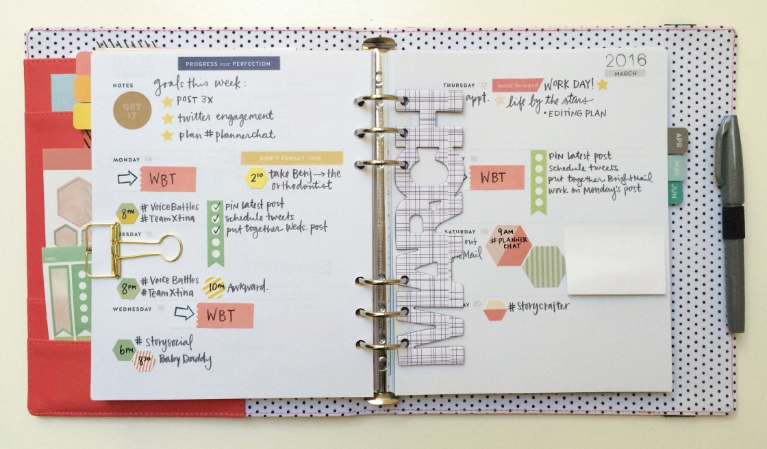 Planner Pages using the Studio Calico Homespun Planner Kit