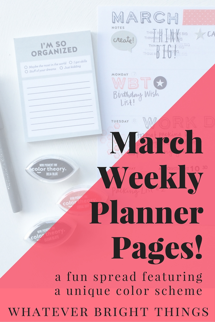 Feeling stuck with your planner? Get inspired with this fun March Weekly Planner Pages using stickers, stamps, washi tape, and sticky notes! Click through to see the complete spread!