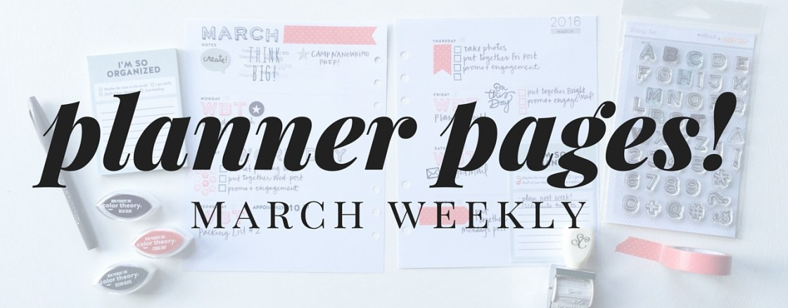 March Weekly Planner Pages