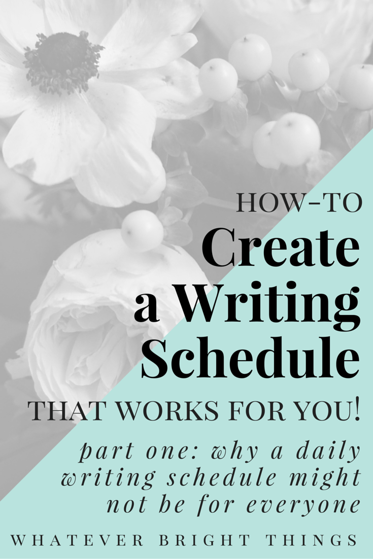 Have you ever wondered if a daily writing schedule is right for you? Follow along as I try to figure out a more flexible way to stay dedicated and disciplined about writing, without guilt. Click through to read part one where I share my relationship with writing and why a daily writing schedule might not be for everyone.