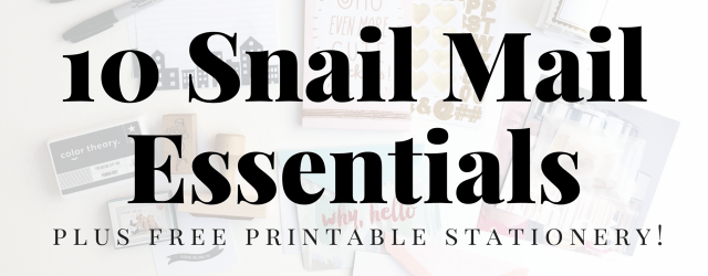 Snail Mail Essentials