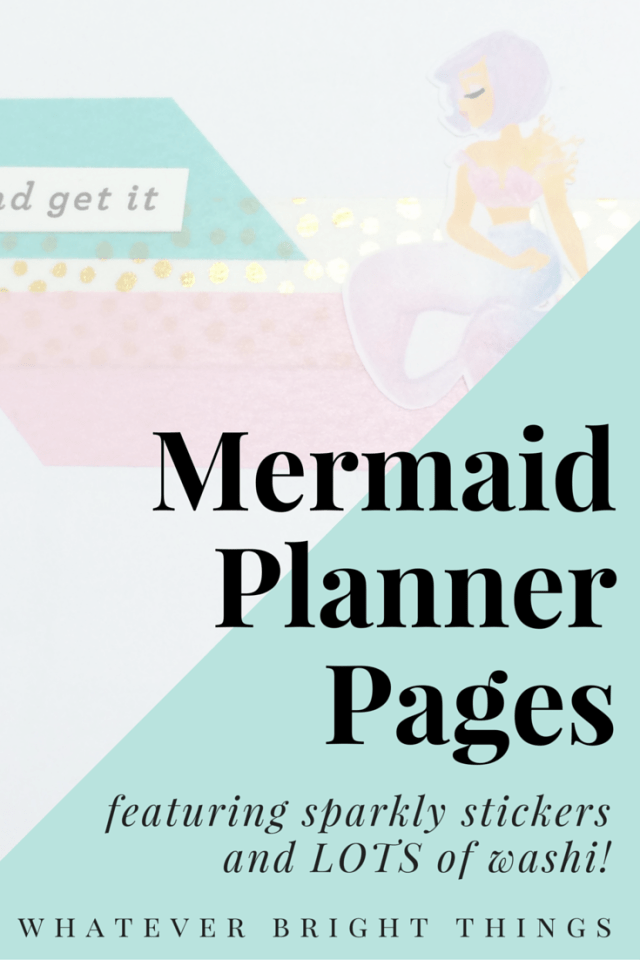 Because when you have cute mermaid stickers, you have to use them! Click through to check out my weekly planner spread using stickers, washi, & stamps!