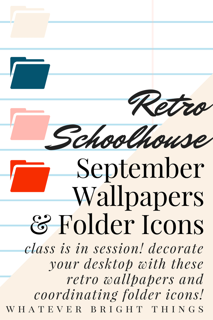 It's time to decorate your desktop for September with these Free Retro Schoolhouse Wallpapers and Folder Icons! Click through to check out and download all 25 designs!