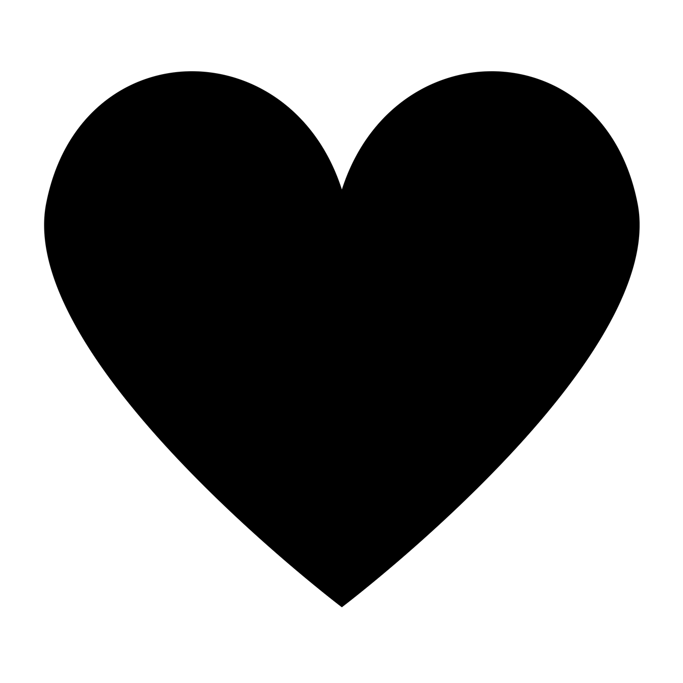Heart Folder Black