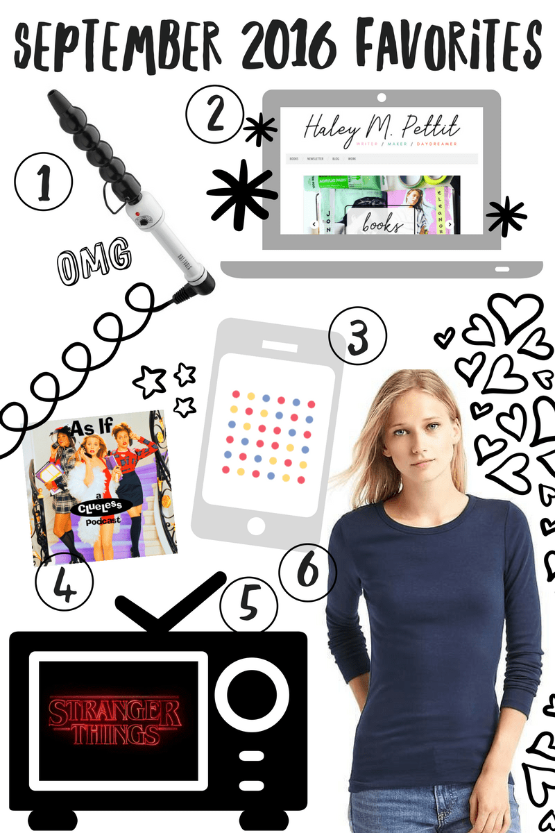 With September behind us, it's time for September Favorites! From a Clueless Podcast, to the perfect long-sleeve tee, to the best Bubble Curling Iron - check out my September Favorites to find you new obsession!