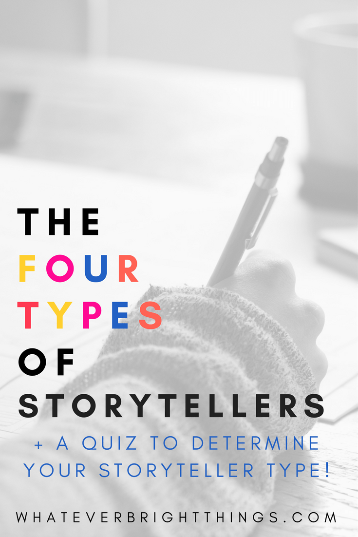 Have you ever wondered what your storytelling superpower is? Discover your Storyteller Type with this quiz and post on the Four Types of Storytellers! Find you writing strengths and weaknesses, and become the Storytelling Superhero you're meant to be!