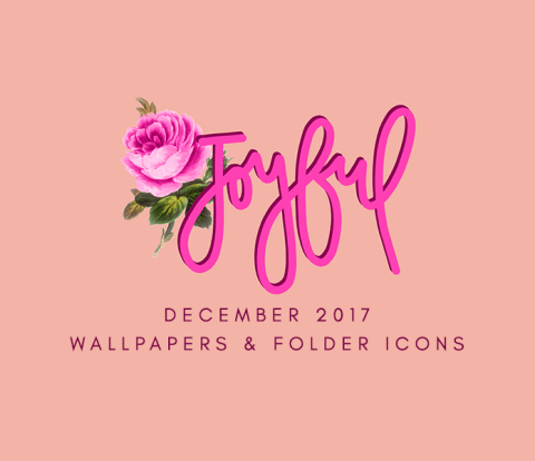 December 2017 Wallpapers & Folder Icons
