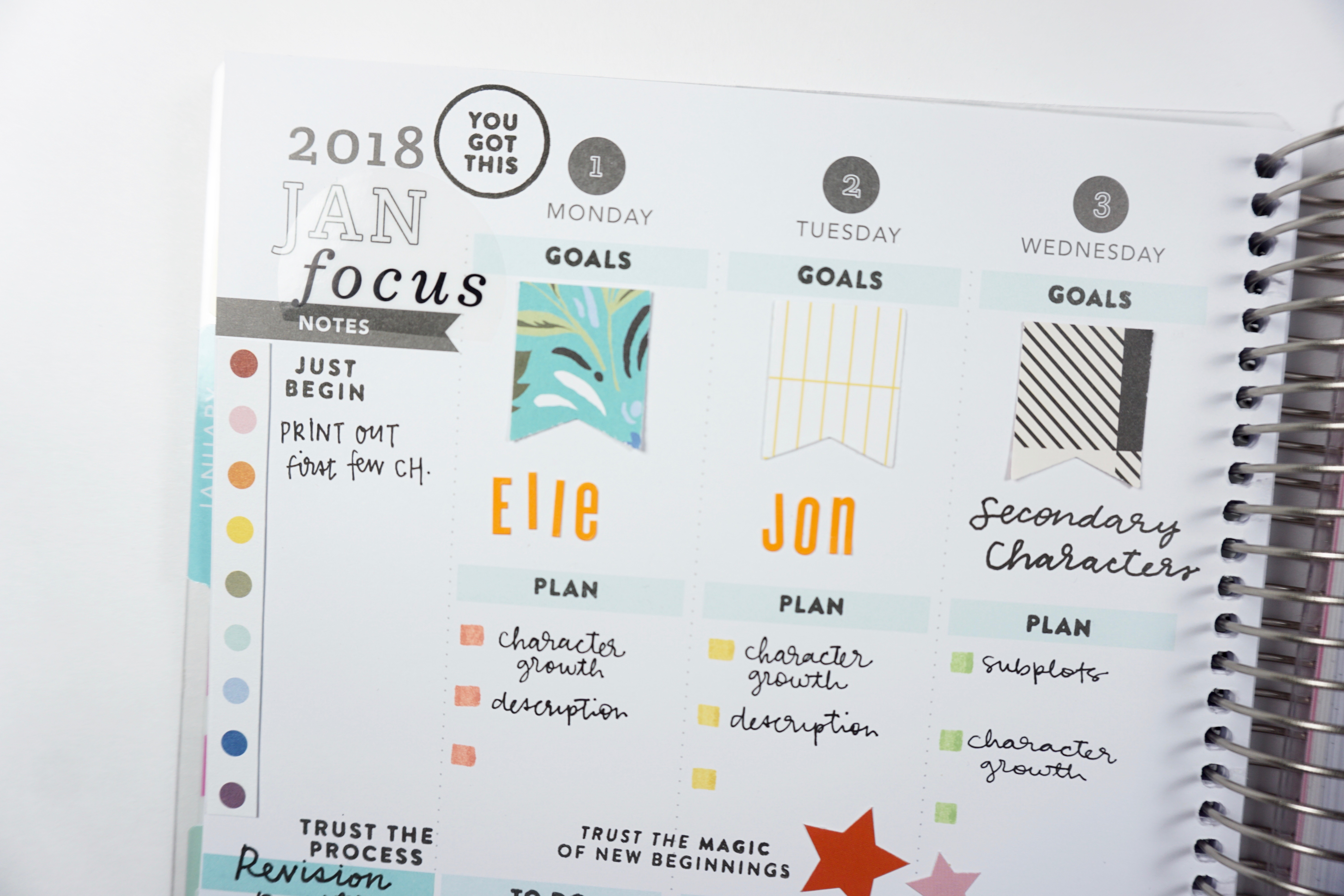 Using the Studio Calico Summit Planner Kit January 2018