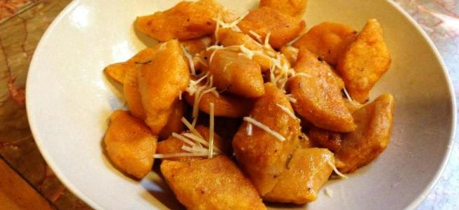 Sweet potato gnocchi with browned butter and sage.